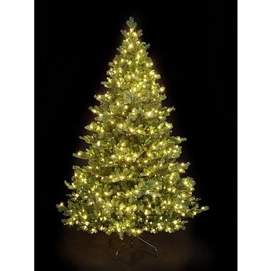 Hometime Snowtime 6.6' Green Pre-Lit Alaskan Spruce Artificial Christmas Tree w/ 350 Warm White LEDs