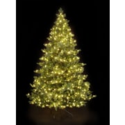 Hometime Snowtime 7.5' Green Pre-Lit Alaskan Spruce Artificial Christmas Tree w/ 750 Clear Lights