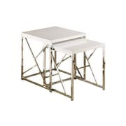 Wildon Home   2 Piece Nesting Table Set; White