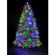 Hometime Snowtime 6.6' Green Pre-Lit Rocky Mountain Artificial Christmas Tree w/ 350 Color Lights