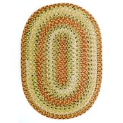 Homespice Decor Tuscany Red Indoor/Outdoor Rug; Oval 3' x 5'