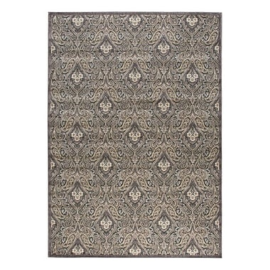 Nourison Graphic Illusions Black/Gray Floral Area Rug; 5'3'' x 7'5''