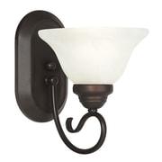 Livex Lighting Coronado 1 Light Wall Sconce; Bronze