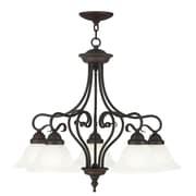 Livex Lighting Coronado 5 Light Chandelier; Bronze