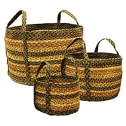 Homespice Decor Russet Jute Basket; 14'' H x 14'' W x 10'' D