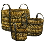 Homespice Decor Kilimanjaro Jute Basket; 14'' H x 14'' W x 10'' D