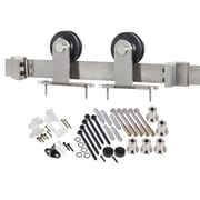 Erias Home Designs Top of Door Sliding Barn Door Hardware; Stainless Steel