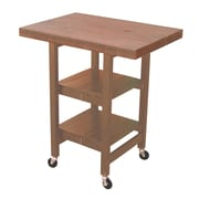 Oasis Concepts Folding Kitchen Cart with Wood Top; Sand