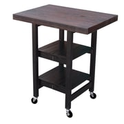 Oasis Concepts Folding Kitchen Cart with Wood Top; Boatwood