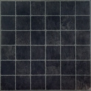 Achim Importing Co Nexus Self Adhesive Dark Slate Checker Board 12'' x 12'' Vinyl Floor Tile