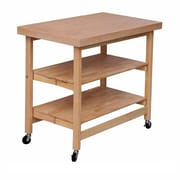 Oasis Concepts Folding Kitchen Island with Wood Top; Sand