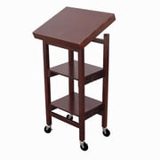 Oasis Concepts Folding Kitchen Cart with Wood Top; Walnut