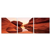 Antique Revival Mysterious Canyon 3 Piece Photographic Print Set; Small