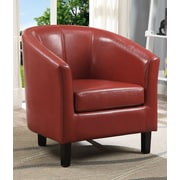 Simpli Home Austin Tub Arm Chair; Red