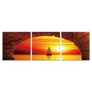 Antique Revival Sailing into the Sunset 3 Piece Photographic Print Set; Large