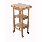 Oasis Concepts Folding Kitchen Cart with Wood Top; Natural