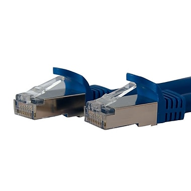 StarTech.com Cat 6a Blue Shielded Molded 10 Gigabit RJ45 STP Cat6a Patch Cable, 7 Ft.