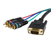 StarTech.com HD15 to Component RCA Breakout Cable Adapter, M/M, 3 Ft.