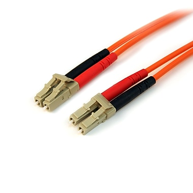 StarTech.com Multimode 50/125 Duplex Fiber Patch Cable LC to LC, 2m
