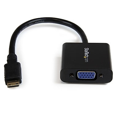 StarTech.com Mini HDMI® to VGA Adapter Converter for Digital Still Camera/Video Camera1920 x 1080