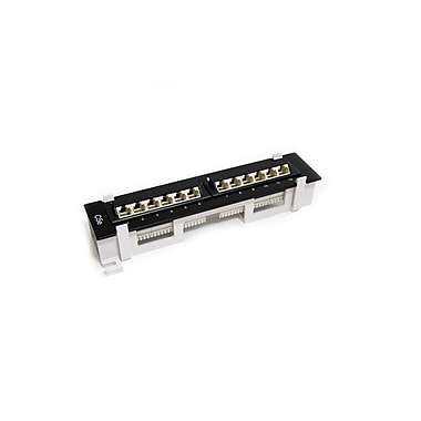StarTech.com Wall Mount Cat5e 110 Patch Panel, 45 Degree, 1U 12 Port