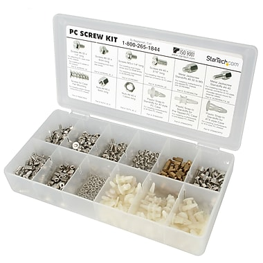 StarTech.com Deluxe Assortment PC Screw Kit, Screw Nuts and Standoffs