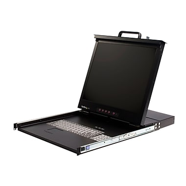 StarTech.com Rackmount LCD Console with Integrated 8 Port KVM Switch, 1U 19