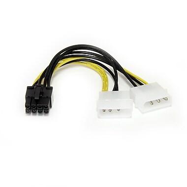 StarTech.com – Câble adaptateur d'alimentation de carte graphique LP4 à PCI Express à 8 broches, 6 po