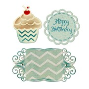 "Sizzix Thinlits Die Birthday Cupcake & Labels Set 2"" x 2.5"" - 4.25"" x 2.25"""