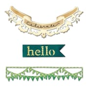 "Sizzix Thinlits Hello Banners 3.5"" x 1"" - 6.5"" x 2.62"""