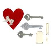 """Sizzix Heart, Keys & Tags Thinlits Die Set 3.5"""" x 3.62"""" - 1.12"""" x 2.62"""""""