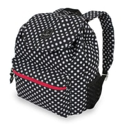 French West Indies SwissGear Polyester Backpack, Black Large Polka Dot Print