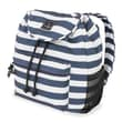 French West Indies SwissGear Polyester Backpack, Blue & White Wide Stripe