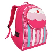 French West Indies Polyester Backpack, Pink Cupcake