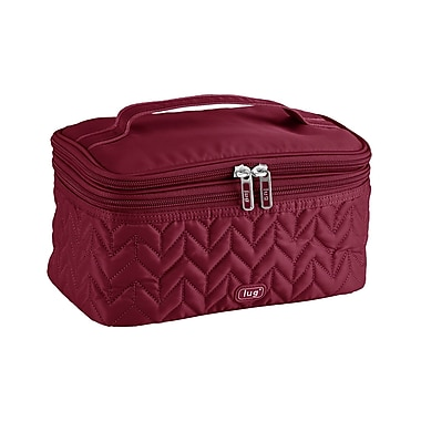 Lug Two-Step Cosmetic Case, Cranberry