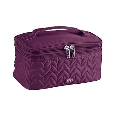 Lug Two-Step Cosmetic Case, Plum