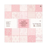 "Docrafts® Papermania Paper Pack, 12"" x 12"", Wild Rose"