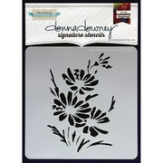 "Donna Downey Stencils 8 1/2"" x 8 1/2"" Signature Stencil, Painted Flowers"