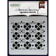"Donna Downey Stencils 8 1/2"" x 8 1/2"" Signature Stencil, Happy Flowers"