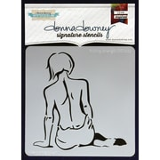 "Donna Downey Stencils 8 1/2"" x 8 1/2"" Signature Stencil, Finding Strength"