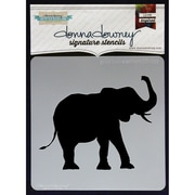 "Donna Downey Stencils 8 1/2"" x 8 1/2"" Signature Stencil, Good Luck Elephant"
