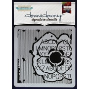 "Donna Downey Stencils 8 1/2"" x 8 1/2"" Signature Stencil, Poppy Collage"
