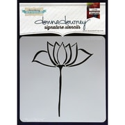 "Donna Downey Stencils 8 1/2"" x 8 1/2"" Signature Stencil, Lotus"