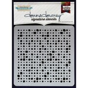 """Donna Downey Stencils 8 1/2"""" x 8 1/2"""" Signature Stencil, Grunge Halftone Dots"""