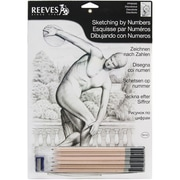 "Reeves™ Sketching By Number Kit, 8"" x 12"", Diskobolus"