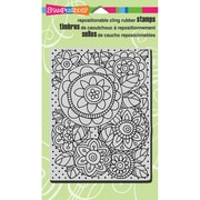 """Stampendous® 4"""" x 6"""" Sheet Cling Rubber Stamp, Penpattern Blooms"""