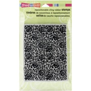 """Stampendous® 4"""" x 6"""" Sheet Cling Rubber Stamp, Rose Pattern"""