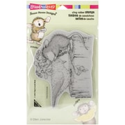 """Stampendous® 4"""" x 6"""" Sheet House Mouse Cling Rubber Stamp, Birdie Kiss"""