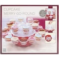 Love Cooking Company™ Merry-Go-Round™ 24 Cupcake Serving Dish, Red/White