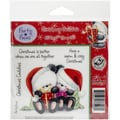 Crafter's Companion Party Paws™ EZMount™ 5 1/2in. x 8 1/2in. Rubber Stamp Set, Christmas Cuddles